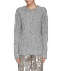 'ghost' marl knit sweater