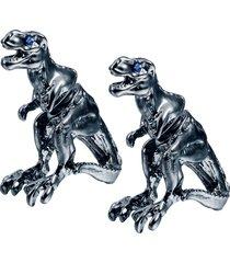 unisex 1 paio di orecchini di dinosauro tyrannosaurus rex blue eye per gli uomini