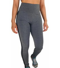 calça legging cintura alta recorte feminina mescla