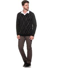 suéter passion tricot jacar preto - kanui
