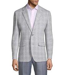 emmetex plaid wool jacket