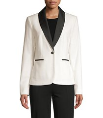 contrasting button-front blazer