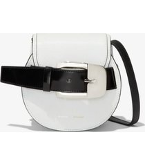 proenza schouler mini buckle crossbody bag optic white one size