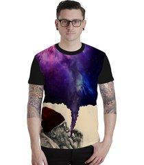 camiseta lucinoze camisetas manga curta crazy world preta