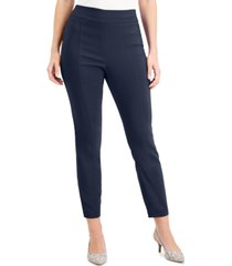 jm collection petite front-seam skinny pants, created for macy's
