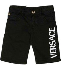 young versace black bermuda shorts with logo