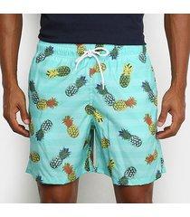 shorts mash estampado frutas estilizadas masculino
