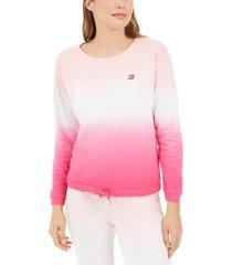 tommy hilfiger sport cotton ombre wide-neck sweatshirt
