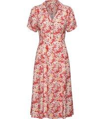 sorrento dress knälång klänning röd odd molly