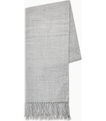 mens grey plain woven scarf
