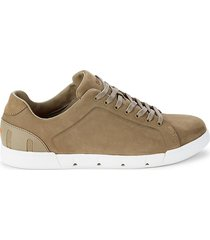 swims men's breeze tennis leather sneakers - taupe - size 13