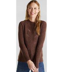 sweater texturado con lana marrón esprit