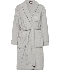 lrl essential short shawl collar robe morgonrock grå lauren ralph lauren homewear