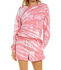 women's zella tie dye crewneck sweatshirt
