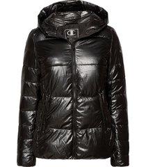 hooded polyfilled jacket fodrad jacka svart champion