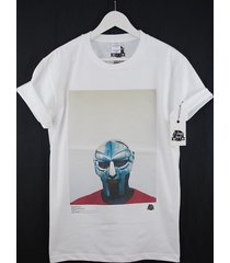 actual fact mf doom steel mask red blue colour rap hip hop premium t shirt