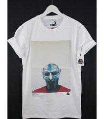 actual fact mf doom steel mask red blue colour rap hip hop premium t shirt