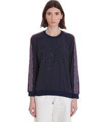 kenzo sweatshirt in blue tech/synthetic