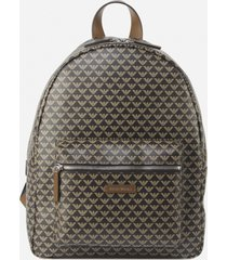 backpack with all-over monogram print