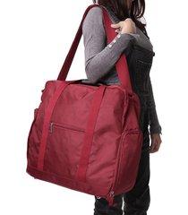 borsa da viaggio in nylon di grande capacità per uomini e donne
