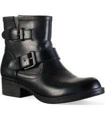 sun + stone amberr leather booties, created for macy's women's shoes