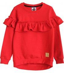 bluza frill red