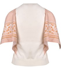 see by chloé foulard sleeves sweater