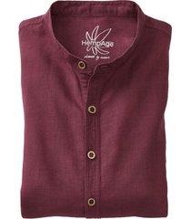heren-overhemd uit een mix van hennep/bio-katoen, kastanje l