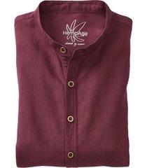 heren-overhemd uit een mix van hennep/bio-katoen, kastanje xxl