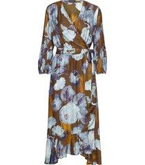 3390 - rummer jurk knielengte multi/patroon sand