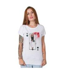 camiseta  kill bill collage branco