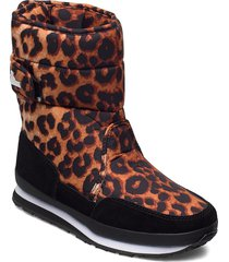 rd print shoes boots ankle boots ankle boot - flat brun rubber duck