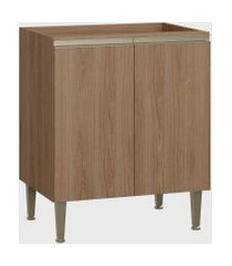 balcáo 2 portas madeira be mobiliário marrom