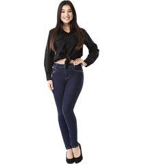 calça jeans sawary feminino cigarrete push up azul marinho