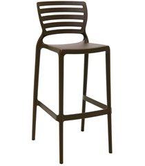 cadeira alta em polipropileno sofia 104,5x49,5x47cm marrom