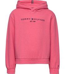 essential hooded sweatshirt hoodie trui roze tommy hilfiger