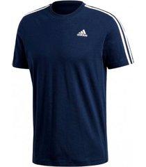 camiseta masculina adidas essentials 3-stripes