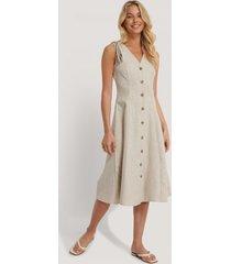 trendyol klänning med banddetaljer - beige