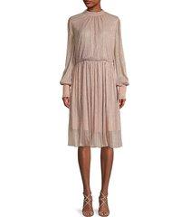 sachin & babi women's catherine shimmer dress - peach - size 8