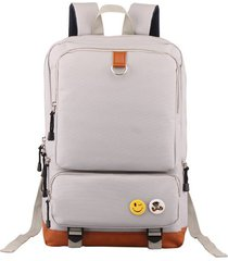 mochila de tejido oxford impermeable para viaje e-hot - gris claro