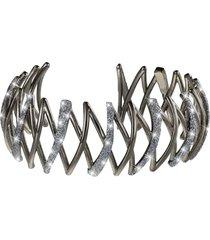 bracciale bangle medium in ottone rutenio e glitter per donna