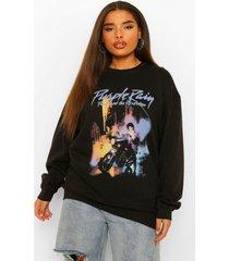 plus gelicenseerde purple rain sweater, black