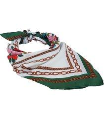 pañuelo verde nuevas historias cadenas y flores ba1285