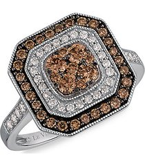 le vian chocolatier® 14k vanilla gold®, chocolate diamonds® & vanilla diamonds® ring