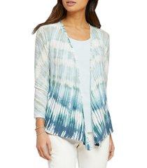 nic+zoe women's ombra sea 4-way cardigan - blue - size xs