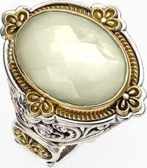 konstantino 'selene' semiprecious stone ring, size 7 in silver/gold at nordstrom