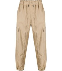 random identities zip-detail cotton cargo trousers - neutrals
