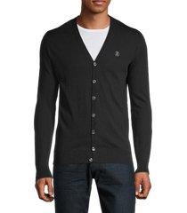 roberto cavalli men's v-neck cardigan sweater - nero - size xl