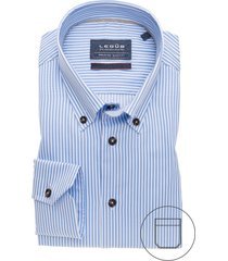 ledub overhemd blauw wit gestreept modern fit