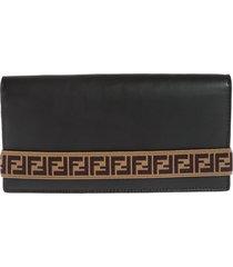 fendi branded continental wallet